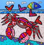 Romero Britto Art Romero Britto Art Cancer (SN)