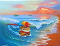 Jim Warren Fine Art Jim Warren Fine Art Cheeseburgerin Paradise