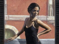 Fabian Perez Fabian Perez Christine at the Balcony