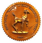 Nano Lopez Nano Lopez Bronze Collectors Coin - Dusty