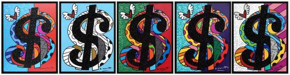Romero Britto Art Romero Britto Art C.R.E.A.M. Series (SN)