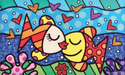 Romero Britto Art Romero Britto Art Deep Love (SN)