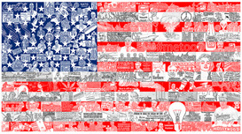 Charles Fazzino Art Charles Fazzino Art Historically... Our American Flag (DX)
