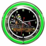 Michael Godard Fine Art Michael Godard Fine Art Neon Clock - Daily Double