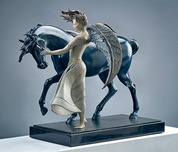 Michael Parkes Art Michael Parkes Art Dark Unicorn (Sculpture) (1/3 Life)