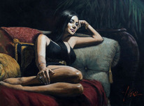 Fabian Perez Fabian Perez Monica on the Couch