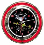 Michael Godard Art & Prints Michael Godard Art & Prints Neon Clock - Dirty Martini