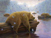 Robert Bissell Art Robert Bissell Art Drifters - (AP) Hand-Enhanced