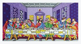 Romero Britto Art Romero Britto Art First Supper (SN)