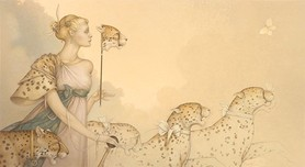 Michael Parkes Art Michael Parkes Art Five Cheetahs