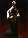 Fabian Perez Fabian Perez Flamenco Dancer in Black Dress