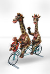 Carlos and Albert Carlos and Albert Giraffe Family on Bicycle