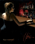 Fabian Perez Fabian Perez Girl At Bar With Red Light