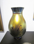 Donald Carlson Donald Carlson Gold Lustre Tear Drop Footed Vase