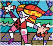 Romero Britto Art Romero Britto Art Golden Beaches
