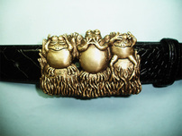 Link Wachler Jewelry Link Wachler Jewelry Belt Buckle - Hear No Evil, Speak No Evil, See No....Well Maybe a Little