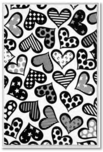 Romero Britto Art Romero Britto Art Hearts - Black and White (SN)