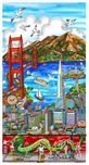 Charles Fazzino Art Charles Fazzino Art High Over San Francisco (DX)