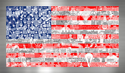 Charles Fazzino Art Charles Fazzino Art Historically... Our American Flag (ALU)