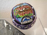 Charles Fazzino Art Charles Fazzino Art Colorado Rockies Baseball (Ball)