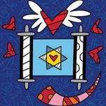 Romero Britto Art Romero Britto Art Scroll - Israel Collection (SN)