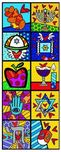 Romero Britto Art Romero Britto Art Israel Collection (Vertical)