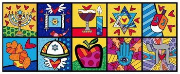 Romero Britto Art Romero Britto Art Israel Collection (Horizontal)