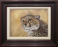 Jacquie Vaux Jacquie Vaux Baby King Cheetah (Framed)