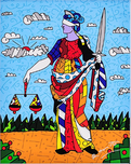Romero Britto Art Romero Britto Art Lady Justice (SN)