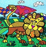 Romero Britto Art Romero Britto Art Leo (SN)