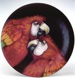 Todd Warner Todd Warner Let's Talk it Over -  Scarlet Red Macaw Plate