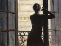 Fabian Perez Fabian Perez Lettizia At the Brown Window