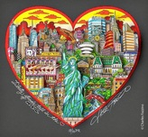 Charles Fazzino 3D Art Charles Fazzino 3D Art Liberty Stands Tall in the Heart of NYC (PR) - Framed