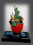 Charles Fazzino Art Charles Fazzino Art Little Bronze NY Apple (Sculpture)