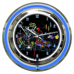 Michael Godard Art & Prints Michael Godard Art & Prints Neon Clock -  Lounge Lizard