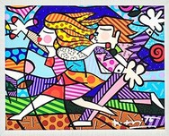 Romero Britto Art Romero Britto Art Love Blossoms