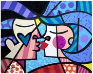 Romero Britto Art Romero Britto Art Love Circle Love
