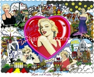 Charles Fazzino Art Charles Fazzino Art Love and Kisses, Marilyn (SN)