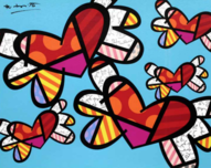 Romero Britto Art Romero Britto Art Love is in the Air Too (SN)
