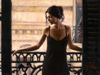 Fabian Perez Fabian Perez Luciana at the Balcony