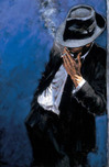 Fabian Perez Fabian Perez Man in Black Suit