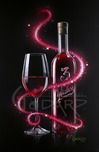 Godard Wine Art Godard Wine Art 3 Wishes in Red (SN)