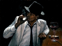 Fabian Perez Fabian Perez Man in White Suit VI