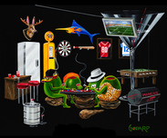 Godard Gambling Art Godard Gambling Art Man Cave (GP)