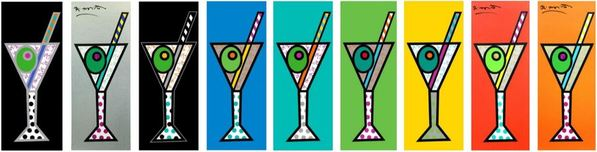Romero Britto Art Romero Britto Art Martini Collection