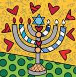 Romero Britto Art Romero Britto Art Menorah - Israel Collection (SN)