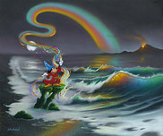 Jim Warren Fine Art Jim Warren Fine Art Mickey Colors the World