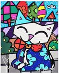 Romero Britto Art Romero Britto Art Midnight Cat (Framed)