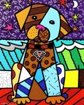 Romero Britto Art Romero Britto Art Midnight Dog (SN)