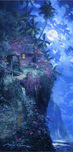 Artist James Coleman Artist James Coleman Midnight Blue (20 x 40)